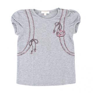 Gucci girls 18-24M Grey Print Backpack T-shirt