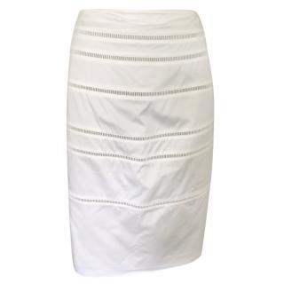 Georges Rech Cream Cutwork Skirt