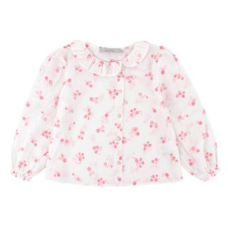 Baby Dior 2Y Floral Print Ruffle Top