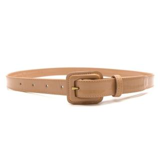 Burberry Nude Patent Leather Belt