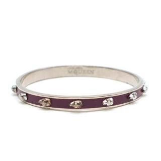 Alexander McQueen Purple Skull Bracelet