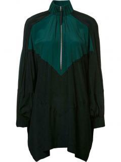 Marni Green & Black Zipped Collar Top