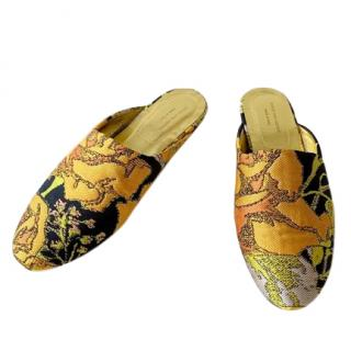 Dries Van Noten jacquard mules