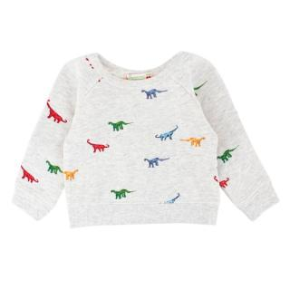Bonpoint Boys 6M Multi Color Dinosaur Sweatshirt