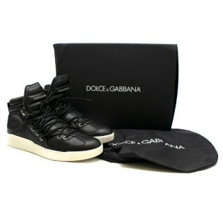 Dolce & Gabbana Benelux Leather High-Top Sneaker