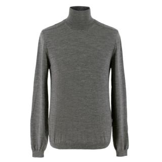 Gucci Grey Wool Turtleneck Sweater
