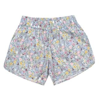 Gucci Girls Floral Print Cotton Shorts