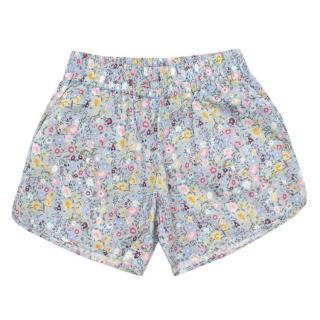 Gucci Girls Floral Print Cotton Shorts