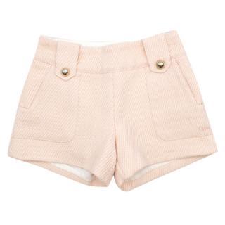 Chloe Girls 6-Years Pink Metallic Shorts