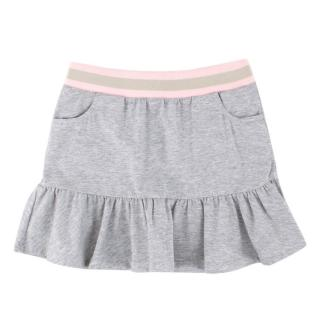 Gucci Girls Light Grey Cotton Skirt