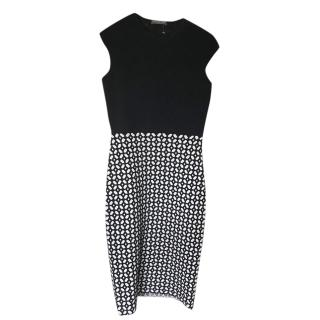 Alexander McQueen Black & White Bodycon Dress