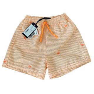 Heidi Klein Orange Striped Swim Shorts