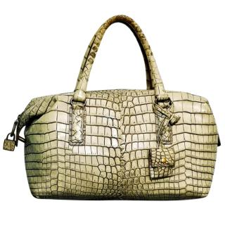 Bottega Veneta Crocodile Tote Bag