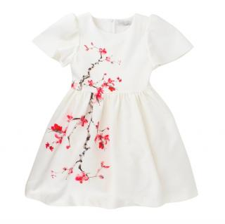 Patachou Girls 6Y White Floral A-line Dress