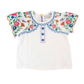 Stella McCartney Kids 2Y Multi Color Embroidered Top
