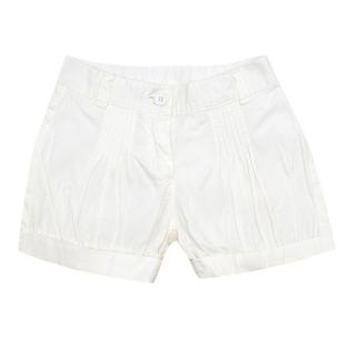 Gucci Kids 3Y White Pleated Shorts