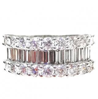 Fine Jewelry Bnib 9ct Gold Diamond Criss Cross Bangle Rrp £550