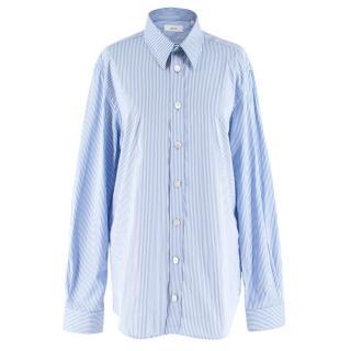 Joseph Men's Blue & White Retro Stripe Moriston Shirt