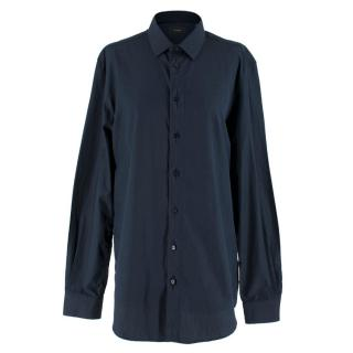 Joseph Men's Navy Cotton Jean Pierre Shirt