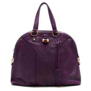 Yves Saint Laurent Purple Leather Muse Bag