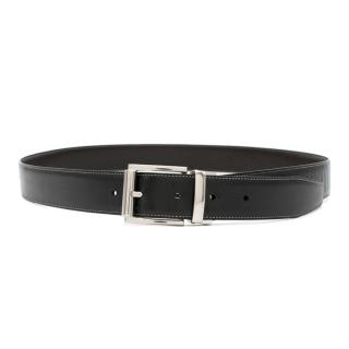 Tumi Black Detachable Buckle Leather Belt