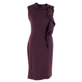 Salvatore Ferragamo Purple Wool Knee-length Dress