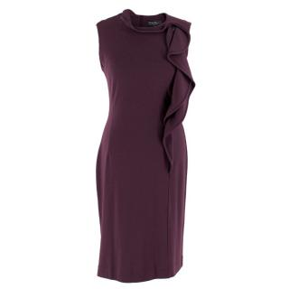 Salvatore Ferragamo Purple Wool Knee-length Dress