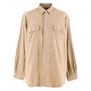 Polo By Ralph Lauren Beige Checked Cotton Pratt Shirt