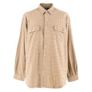 Polo By Ralph Lauren Beige Checked Cotton Pratt Shirt