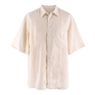 Brioni Men's Cream Cotton & Linen-blend Shirt