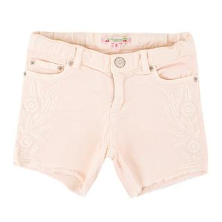 Bonpoint Girls 6Y Pink Floral Denim Shorts