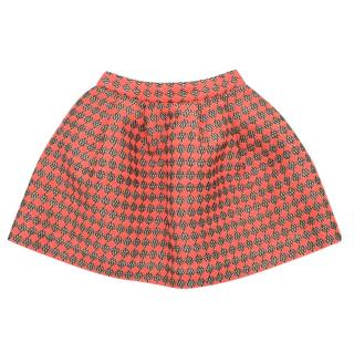 Bonpoint Girls Neon Pink Tweed Skirt