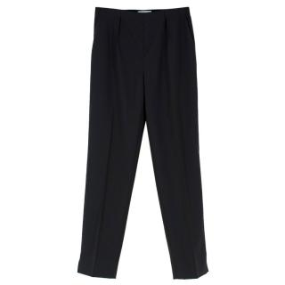 Paule Ka Black Wool High-waist Trousers