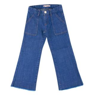 Bonpoint Girls 6Y Blue Wide-leg Denim Jeans