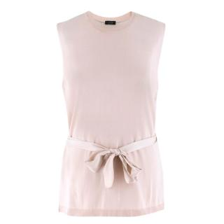 Joseph Light Pink Sleeveless Contrast Panel Top