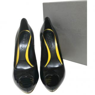 McQ Alexander McQueen Peep Toe Pumps