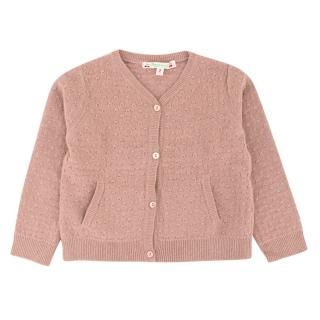 Bonpoint Girls 2Y Pink Wool & Cashmere Cardigan