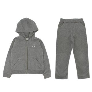 Bonpoint Girls 4Y Grey Hoodie and Trousers Set
