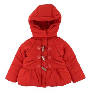 Jacadi Girls Red Padded Hooded Jacket