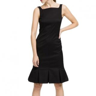 Karl Lagerfeld Black Chiffon Tie Dress