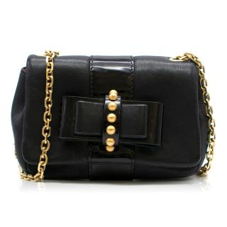 Christian Louboutin Black Leather Bow Mini Cross-body Bag