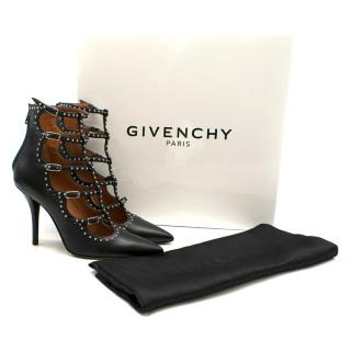 Givenchy Black Studded Caged Sandals