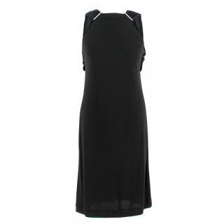 Gucci Black High Neck Chiffon Sleeve Dress