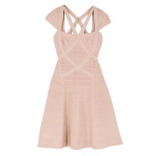 Herve Leger Nude Beatriz Essential A-line Dress