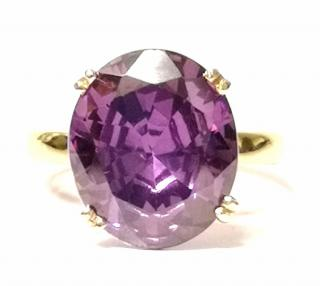 Bespoke Large French Amethyst set in 18ct gold ring