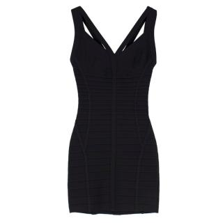 Herve Leger Black Icon Sculpt Bandage Dress