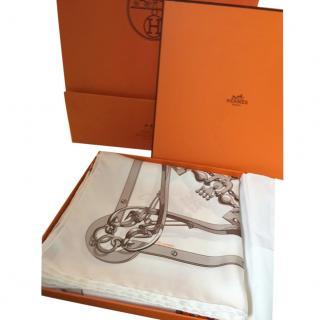 Hermes silk scarf Mors et Gourmettes