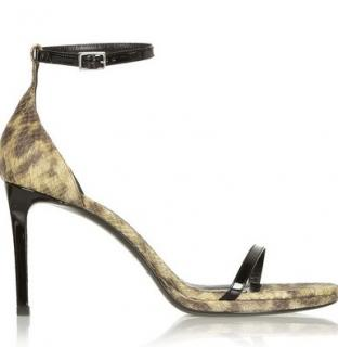 Saint Laurent Jane snake-effect leather sandals