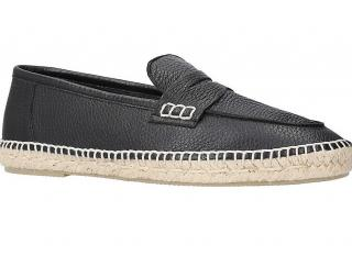 Loewe Men's Loafer leather and jute espadrille