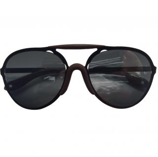 Givenchy Black & Brown Pilot Sunglasses